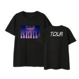Kpop BTS T-Shirt Bangtan Boys 2020 Tour Short Sleeve Korean Loose T-Shirt Top