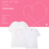 Kpop BTS Bangtan Boys T-shirt MAP OF THE SOUL PERSONA Peripheral Short Sleeve T-Shirt