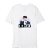 Kpop BTS World Bangtan Boys T-shirt Short Sleeve Korean Loose Top Suga