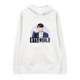 Kpop BTS World Sweatshirt Bangtan Boys Suga Hooded Sweatshirt Hoodie Jacket