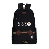Kpop BTS Bangtan Boys Schoolbag Canvas Sports Casual Backpack Outdoor Travel Bag