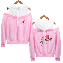 Kpop Stray kids Sweater HI-STAY Concert Same Hooded Sweater Off-shoulder Hoodie