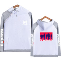 Kpop SuperM Hooded Sweatshirt Korean New Loose Hoodie Jacket KAI LUCAS TEN