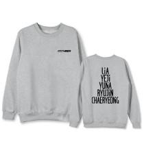 Kpop ITZY Sweater Same Round Neck Sweater YEJI YUNA LIA RYUJiN CHAERYEONG