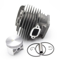 48mm Cylinder Piston Kit Compatible with Stihl 034 036 MS340 MS360 Chainsaw 1125 020 1206 With Pin Ring Circlip ( Without Decom. Port)