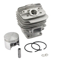 48mm Cylinder Piston Kit Compatible with Stihl 034 036 MS360 MS340 Chainsaw 1125 020 1215 With Pin Ring Circlip ( With Decom.Port)