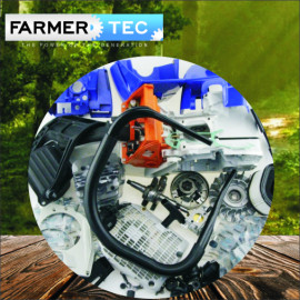 FARMERTEC Complete Repair Parts Motore Carter motore per Stihl MS660 066 New Blue