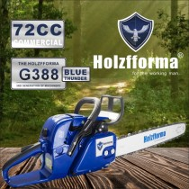 72cc Holzfforma® Blue Thunder G388 Scie à chaîne pour essence Tête motrice uniquement sans barre de guidage ni chaîne de scie Toutes les pièces sont compatibles avec la tronçonneuse 038 AV 038 AV 038 MS380 MAGNUM MAGNUM