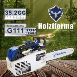 35.2cc Holzfforma® G111 Top Handle Gasoline Chain Saw Power Head Only Without Guide Bar and Saw Chain All Parts Are Compatible With MS200T 020T Chainsaw