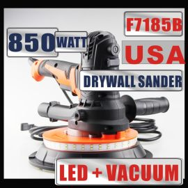 USA 850W LED Electric Variable Speed Drywall Sander 110-220V 50-60HZ With Vacuum Bag 6PCS 180mm Sandpapers