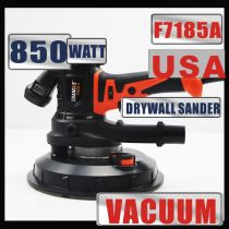 USA 850W Electric Variable Speed Drywall Sander 110-220V 50-60HZ With Vacuum Bag 6PCS 180mm Sandpapers