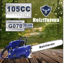 105cc Holzfforma® Blue Thunder G070 Scie à chaîne essence Tête motrice uniquement sans barre de guidage ni chaîne de scie Toutes les pièces sont compatibles avec la tronçonneuse 070 MAGNUM 090