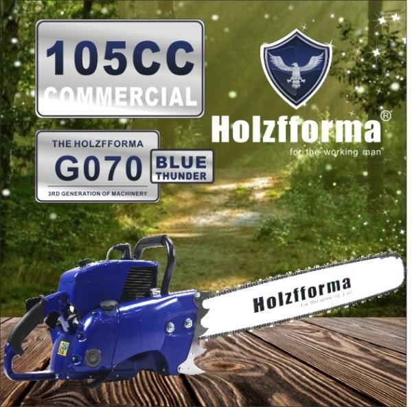 105cc Holzfforma® Blue Thunder G070 Gasolina Serra de corrente somente com guia de guia e corrente de serra Todas as peças são compatíveis com 070 090 MAGNUM Motosserra