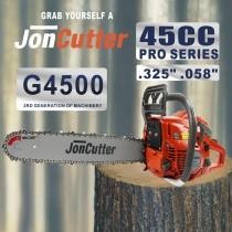 Tête d'alimentation de tronçonneuse à essence JonCutter de 45 cmXNUMX sans chaîne de scie et guide-chaîne