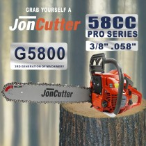 58cc JonCutter Gasoline Chainsaw Power Head Sem corrente de serra e barra de guia