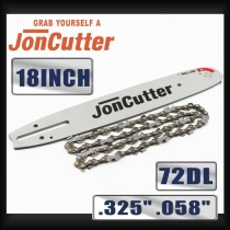 18 inch .325 .058 72DL Saw chain and Guide Bar Combo For JonCutter G4500 Chainsaw