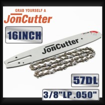 16 inch 3/8 LP .050 57DL Saw chain and Guide Bar Combo For JonCutter G3800 Chainsaw