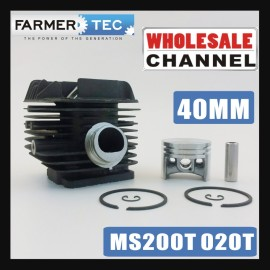 Farmertec® 20 Cylinder Kits Bulk Order 40MM Cylinder Piston Kit For Stihl 020 T MS200 MS200T Chainsaw 1129 020 1202