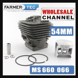 Farmertec® 20 Cylinder Kits Bulk Order 54mm Cylinder Piston Kit For Stihl 066 MS660 Chainsaw 1122 020 1209 With Pin Ring Circlip