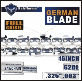 .325  .063  16inch  62 Drive Links Saw Chain  For STIHL Chainsaw  MS170 MS180 MS181 MS190 MS191T MS192T MS200 MS200T MS210 MS211 MS230 MS250 017 018  020 021 023 025