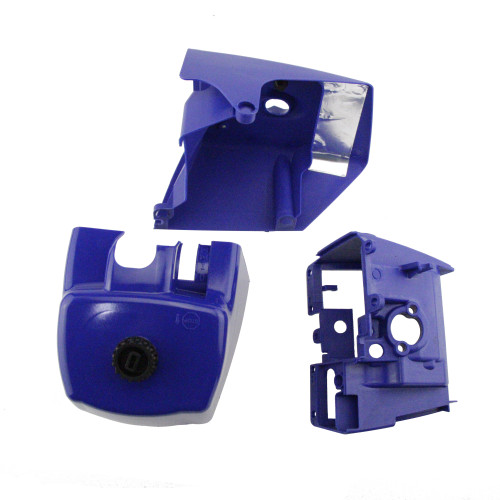 Blue Air Filter Top Shroud Cylinder Cover Base Set For Stihl MS660 066 Chainsaw