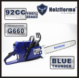 92cc Holzfforma® Blue Thunder G660 Gasoline Chain Saw Power Head Without Guide Bar and Chain Top Quality By Farmertec All parts are compatible with MS660 066 Chainsaw