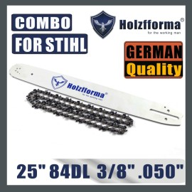 Holzfforma® 24 or 25inch 3/8 .050 84DL Guide Bar & Full Chisel Saw Chain Combo For Stihl Chainsaw MS360 MS361 MS362 MS380 MS390 MS440 MS441 MS460 MS461 MS660 MS661 MS650