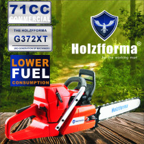 71cc Holzfforma® G372XT Gasoline Chain Saw Power Head Lower Fuel Consumption 50mm Bore Without Guide Bar and Chain Top Quality By Farmertec All Parts Are Compatible With H372X TORQ Chainsaw