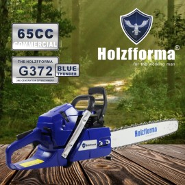 65cc Holzfforma® Blue Thunder G372 Gasoline Chain Saw Power Head Without Guide Bar and Chain Top Quality By Farmertec All Parts Are Compatible With Husqvarna 365 Chainsaw