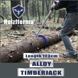 Alloy Timberjack Wood Chuck Log Lifter Roller Fencing Jack Hook Detachable Tool Blue color With Two Jacks
