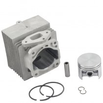 Aftermarket Stihl SR340 SR420 BR320 BR400 BR340 BR380 BR420 SR320 Cylinder Piston Kit 46mm With Pin Ring Circlip 4203 020 1201