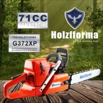 71cc Holzfforma® G372XP Gasoline Chain Saw Power Head 50mm Bore Without Guide Bar and Chain Top Quality By Farmertec One year warranty All Parts Are Compatible With Husqvarna 372XP Chainsaw