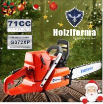 71cc Holzfforma G372XP Gasoline Chain Saw Power Head 50mm Bore Without Guide Bar and Chain Top Quality By Farmertec One year warranty All Parts Are Compatible With Husqvarna 372XP Chainsaw