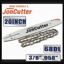 20 inch 3/8 .058 68DL Saw chain and Guide Bar Combo For JonCutter G5800 Chainsaw