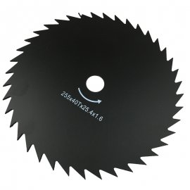40T Trimmer Blade 25.4X255MM For Stihl Husqvarna Echo Homelite Honda Robin Yamaha Sindaiwa McCulloch Solo Dolmar Tanaka Red Max Sears Grass String Trimmer Brush Cutter (Arbor 25.4MM / Diameter 255MM) Carbide Cutting Blade