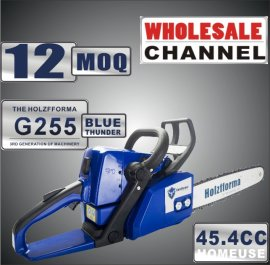WHOLESALE MOQ 12 NOS 45.4cc Holzfforma® Blue Thunder G255 Gasoline Chain Saw Power Head Only Without Guide Bar and Saw Chain All Parts Are Compatible With MS250 MS230 MS210 025 023 025 Chainsaw
