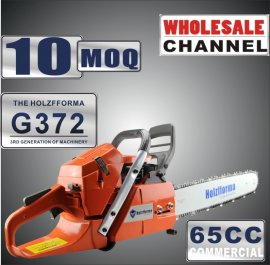 WHOLESALE MOQ 10 NOS 65cc Holzfforma® G372 Gasoline Chain Saws Power Head Without Guide Bar and Chain Top Quality One year warranty All parts are compatible with H362 365 372 Chainsaw