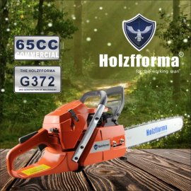 65cc Holzfforma® G372 Gasoline Chain Saw Power Head Without Guide Bar and Chain Top Quality By Farmertec One year warranty All Parts Are Compatible With Husqvarna 365 Chainsaw