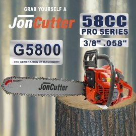 58cc JonCutter Gasoline Chainsaw Power Head Without Saw Chain and blade One Year Warranty