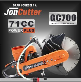 71cc JonCutter GC700 Gasoline Concrete Cut-Off Saw 14  Cement Concrete Cutter Blade Not Included