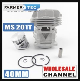 WHOLESALE MOQ 20 NOS Cylinder Kit for Stihl MS201 MS 201C MS201T (40mm) # 1145 020 1200