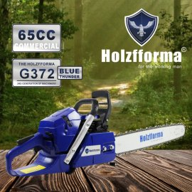 65cc Holzfforma® Blue Thunder G372 Gasoline Chain Saw Power Head Without Guide Bar and Chain Top Quality By Farmertec One year warranty All Parts Are Compatible With Husqvarna 365 Chainsaw