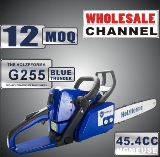 WHOLESALE MOQ 12 Pieces 45.4cc Holzfforma® Blue Thunder G255 Gasoline Chain Saw Power Head Only Without Guide Bar and Saw Chain All Parts Are Compatible With MS250 MS230 MS210 025 023 025 Chainsaw