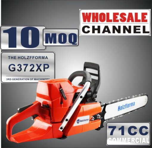 WHOLESALE MOQ 10 Pieces 71cc Holzfforma® G372XP Gasoline Chain Saws Power Head Without Guide Bar and Chain Top Quality One year warranty All parts are compatible with H362 365 372 Chainsaw