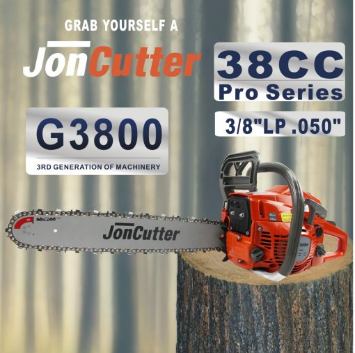 38cc JonCutter Home Use Gasoline Chainsaw Power Head Without Saw Chain and blade One Year Warranty