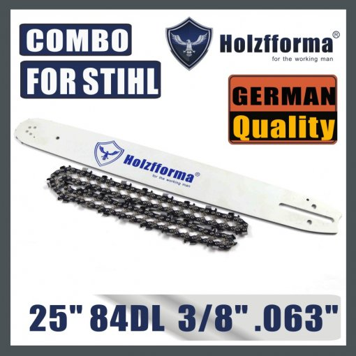 Holzfforma® 25inch Guide Bar & Full Chisel Saw Chain Combo 3/8  .063  84DL For Stihl Chainsaw MS361 MS362 MS380 MS390 MS440 MS441 MS460 MS461 MS660 MS661 MS650 MS880
