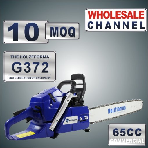 WHOLESALE MOQ 10 Pieces 65cc Holzfforma® Blue Thunder G372 Gasoline Chain Saws Power Head Without Guide Bar and Chain Top Quality One year warranty All parts are compatible with H362 365 372 Chainsaw