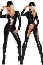 Seductress Faux Leather Jumpsuit 616