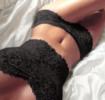Black Lace Cami With Short Set