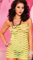 Green Pothole Net Mini Dress 095
